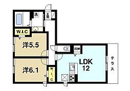 (仮称)奈良市五条畑ハイツ[1階]の間取り