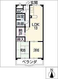 サンテラス福井[3階]の間取り