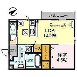 (仮)D-room四十万町[101号室]の間取り