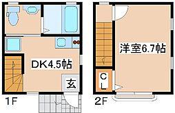 JR東海道・山陽本線 摩耶駅 徒歩15分の賃貸アパート 1階1DKの間取り