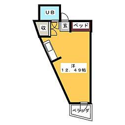 カーサ松本[2階]の間取り