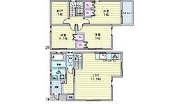 阪急宝塚本線 豊中駅 徒歩27分の賃貸一戸建て 1階3SLDKの間取り