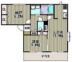 カーサバウム3[1階]の間取り