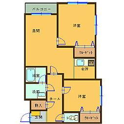 Y'sカーネリアン富岡[3階]の間取り