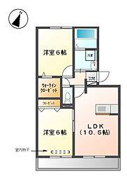 ベルデ[2階]の間取り