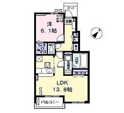 愛知県清須市西田中蓮池丁目の賃貸アパートの間取り