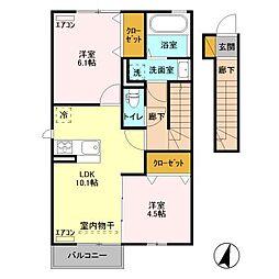 仮)D-room取手ゆめみ野39街区[2階]の間取り
