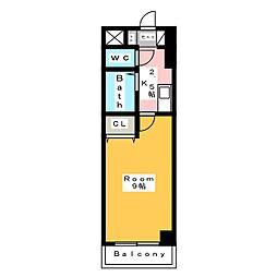 A・City朝日町[2階]の間取り