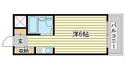 マヨ姫路[4階]の間取り