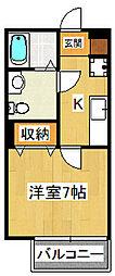 Axis Funabashi 1階1Kの間取り