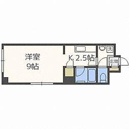 北海道札幌市豊平区豊平四条10丁目の賃貸マンションの間取り