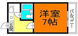 コンフォート木太[1F号室]の間取り