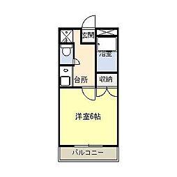 アルムコーポ1号館[3階]の間取り