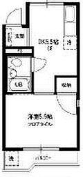 東京都目黒区上目黒3丁目の賃貸マンションの間取り