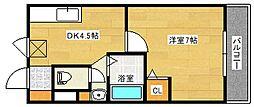 広島県広島市南区出汐3丁目の賃貸マンションの間取り