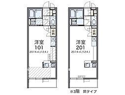 レオネクストマメゾン吹上富士見[206号室]の間取り