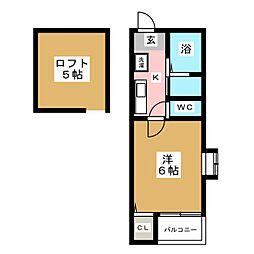 ピュア県庁北 弐番館[2階]の間取り