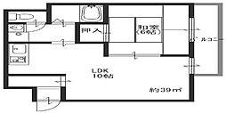 ラガール浅香[2階]の間取り