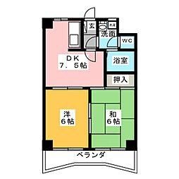 アーク宝地[4階]の間取り