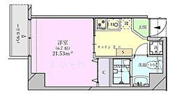 ビットビル壺屋 5階1Kの間取り