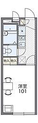 京阪本線 古川橋駅 徒歩15分の賃貸マンション 3階1Kの間取り