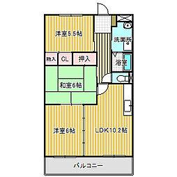愛知県名古屋市中川区一色新町3丁目の賃貸マンションの間取り