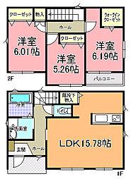 [一戸建] 茨城県水戸市赤塚1丁目 の賃貸【/】の間取り