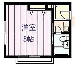 ベルシオン旭ヶ丘II[1階]の間取り
