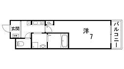 クレアドル須磨[2階]の間取り