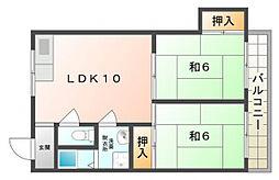 ハイツナカムラ[2階]の間取り