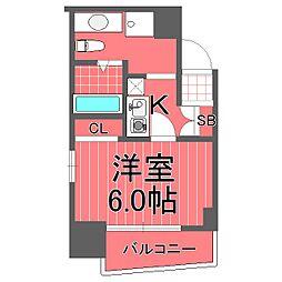 レグラス横浜メディオ[6階]の間取り