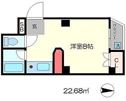 ラメールIII[3階]の間取り