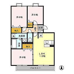 メゾン・ド・ソレイユ B[3階]の間取り