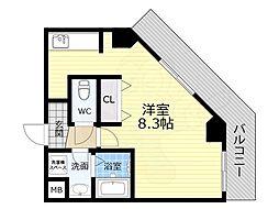 TOYOTOMI STAY PREMIUM 天王寺公園南3 6階1Kの間取り