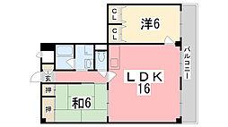 青山NKマンション[201号室]の間取り