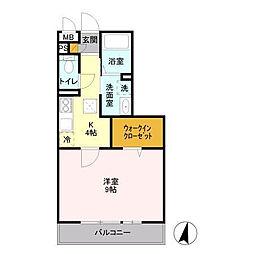 パークヒル櫻山II[1階]の間取り