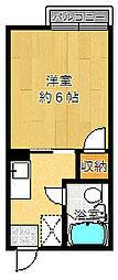 ローズ千里山[206号室]の間取り