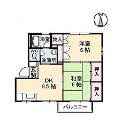 広島県呉市瀬戸見町の賃貸アパートの間取り