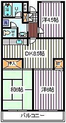 埼玉県さいたま市南区四谷3丁目の賃貸マンションの間取り