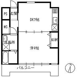 ソアーレ楽々園[703号室]の間取り