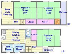 [一戸建] 兵庫県神戸市垂水区城が山1丁目 の賃貸【兵庫県 / 神戸市垂水区】の間取り