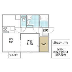 (仮)D-room松代2丁目[205号室号室]の間取り