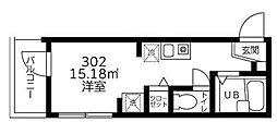 ポルト・ボヌール竹ノ塚[302号室]の間取り