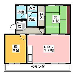 ドミールASKA[3階]の間取り