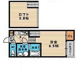 (仮称)旭区高殿六丁目B・SKHコーポ[203号室号室]の間取り