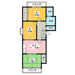 ガーデン明正[2階]の間取り
