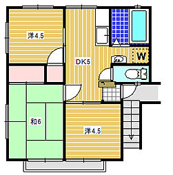 ワイズフラッツ[2階]の間取り