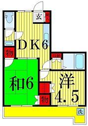 第三富士マンション[302号室]の間取り