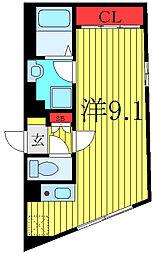 THE RESIDENCE tosima-chihaya 4階ワンルームの間取り