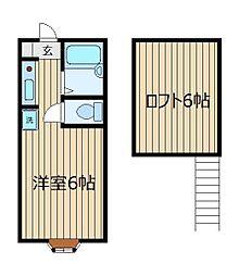 ミヤハウス3号棟[1階]の間取り